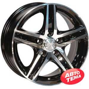 Купить ZW 610 (BP - Черный внутри полированый) R13 W5.5 PCD4x98 ET25 DIA58.6