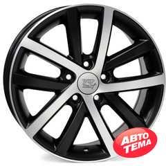 WSP ITALY Rheia VO60 W460 DULL BLACK POLISHED - Интернет-магазин шин и дисков с доставкой по Украине GreenShina.com.ua