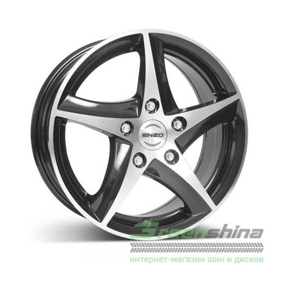 Купить ENZO 101 dark BASE Black/polished R16 W7 PCD5x100 ET35 DIA60.1