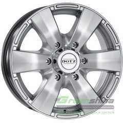 Легковой диск DOTZ Luxor Silver - Интернет-магазин шин и дисков с доставкой по Украине GreenShina.com.ua