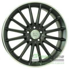 WSP ITALY MERCEDES SHANGHAI ME12 DULL BLACK R POLISHED W773 - Интернет-магазин шин и дисков с доставкой по Украине GreenShina.com.ua