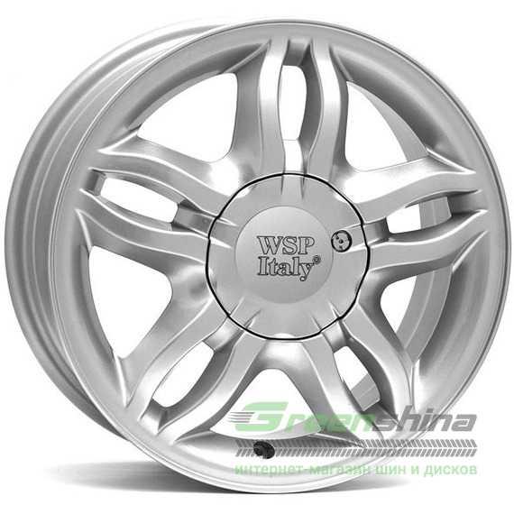 Легковой диск WSP ITALY BORDEAUX W3301 SILVER - Интернет-магазин шин и дисков с доставкой по Украине GreenShina.com.ua