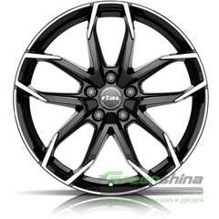 Купить RIAL Lucca Diamond Black Front Polished R18 W8 PCD5x114.3 ET39 DIA70.1