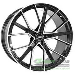 Купить REPLICA FORGED A970 GLOSS-BLACK-WITH-MACHINED-FACE FORGED R22 W10 PCD5x112 ET21 DIA66.5