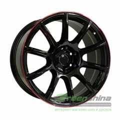 Off Road Wheels OW1012 GLOSSY BLACK RED LINE RIVA RED - Интернет-магазин шин и дисков с доставкой по Украине GreenShina.com.ua