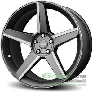 Купить Легковой диск MOMO Stealth Matt Anthracite Polished R19 W9.5 PCD5x112 ET35 DIA79.6