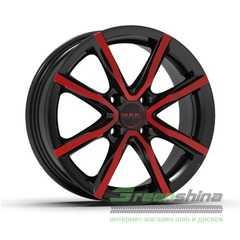 Купить Легковой диск MAK Milano 4 Black and red R15 W6 PCD4x98 ET30 DIA58.1